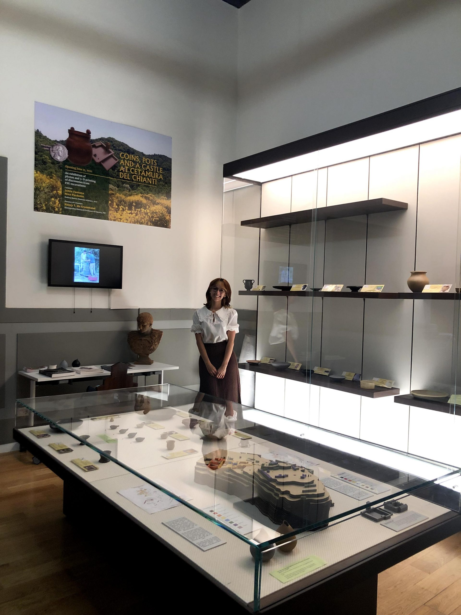 Student explains exhibition