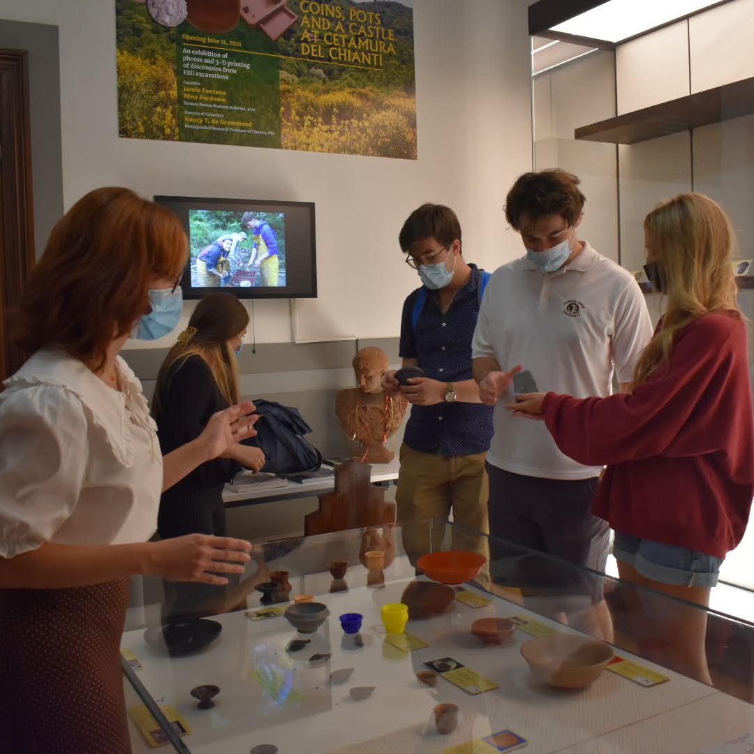 Students at exhibit